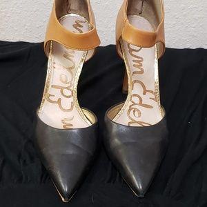 Sam Edelman Back zip two toned heels